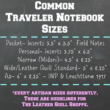 Traveler S Notebook Size Chart How To Findthe Perfect Travelers Notebook Size For You