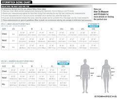 Stormtech Size Chart Size Chart Stormtech