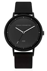 men s watches watches for men online french connection black silicone watch