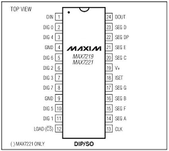 tutorial arduino and the max7219 led display driver ic max7219 pinout