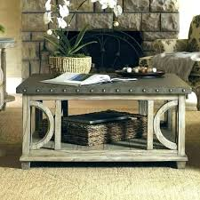 hammered coffee table fit for large room twilight bay also metal nickel round