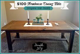 diy outdoor farmhouse table. DIY Farmhouse Dining Table From TheDomesticHeart.com Diy Outdoor A
