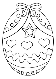 Easter Egg Coloring Pages Printable Free Free Printable Easter Egg