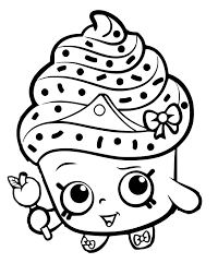 Shopkins Coloring Pages Cupcake Queen Collection Latest Free