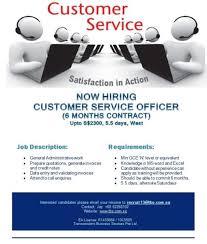 Customer Service Officer Admin Tuas 6 Months Temp Role Boon