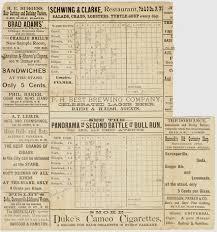 Baseball Game Scorecard 1886 Scorecards For The Washington Nationals Ghosts Of Dc