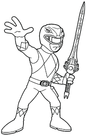 Coloring Pages Of Power Rangers Amazing Red Ranger In Power Rangers