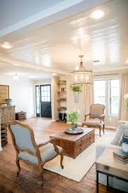 White Paint Living Room Decorating With Shiplap Ideas From Hgtvs Fixer Upper Pine
