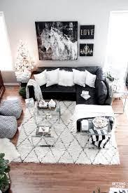 black sofa living room
