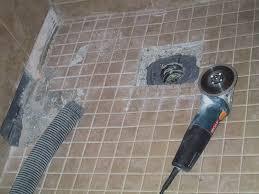 repair tile in shower floor image bathroom 2017 replacing