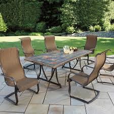 patio costco patio table sirio patio furniture costco rectangular brown stone tile dining table top