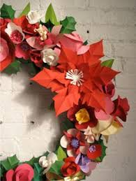Christmas Paper Flower Wreath 433 Best Paper Flowers Images Paper Flowers Papercraft