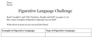 literal language simile and metaphor worksheet figurative and literal