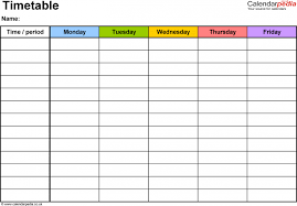 Revision Schedule Template Exam Revision Timetable Excel Template Seating Plan Ule Free