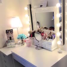 makeup station micke desk by ikea