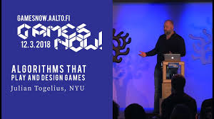 Design Games Now Julian Togelius Algorithms That Play And Design Games Games Now Lecture Series