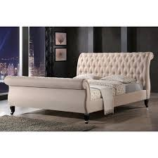 tufted upholstered sleigh bed. Brilliant Upholstered Fabric Sleigh Bed For Creative Of Luxeo Nottingham Tufted Upholstered Sand  Platform For