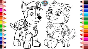 Coloring Pages Coloring Pages Paw Patrol Books Stvx Chase And Book