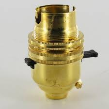 unfinished brass european bayonet b22 base solid brass lamp push through switch socket