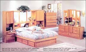 wall unit bedroom set walnut hill platform bed oak wall unit bedroom furniture