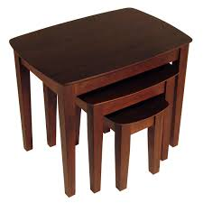 Nesting Tables Amazoncom Winsome Wood Nesting Table Antique Walnut Kitchen