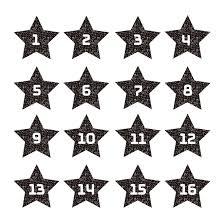 星型で おしゃれ数字ナンバースタンプ白黒 イラスト 商用