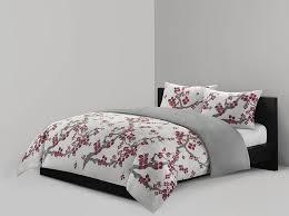 com n natori cherry blossom mini duvet set full queen multicolored home kitchen
