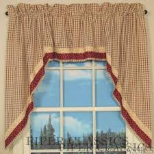 Red Swag Kitchen Curtains Country Swag Curtains Country Style Curtains