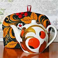 <b>Грелка на чайник</b> своими руками из ткани - простая выкройка