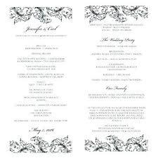 Creative Wedding Programs Program Template Ceremony Itinerary Sample