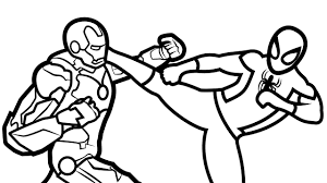 Small Picture Spiderman Vs Iron Man Coloring Book Coloring Pages Kids Fun Art