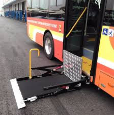 wheelchair lift bus. Simple Lift On Wheelchair Lift Bus