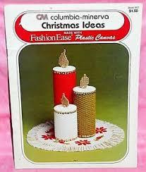 Details About Columbia Minerva Christmas Ideas Plastic Canvas Chart Leaflet Ornaments Coasters