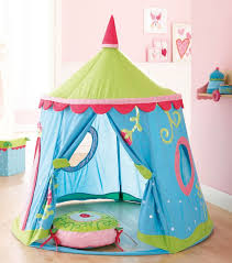 Kid Bedroom, : Amusing Kid Bedroom Decoration With Blue Green Round Kid Tent  Bed Along With Light Pink Bedroom Wall Paint And Oak Wood Bedroom Flooring