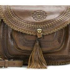 details about patricia nash brown leather purse beaumont distressed cross bag