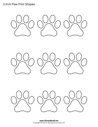 Small Picture Wildcat Paw Print Outline Coloring Page ColoringPawPrintable