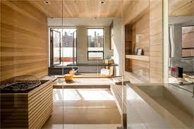 Laminate Bathroom Walls Sauna Converted Townhouse In Greenwich Village In New York City