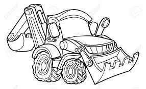 Caricature De V Hicule De Construction De Bulldozer Digger Clip