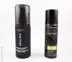 l oréal paris infallible pro spray set and tresemmé tres two extra hold