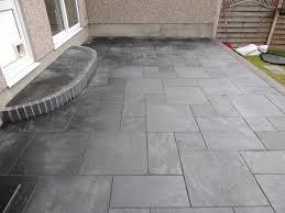 carbon black slate patio
