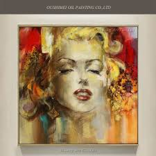 big size artist painted new marilyn monroe oil painting hand painted portrait painting on canvas abstract