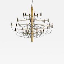 gino sarfatti gino sarfatti mid century modern brass italian 2097 30 chandelier 1960s