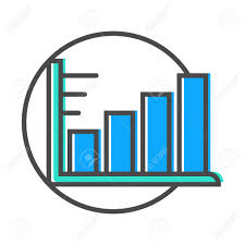 Data Stream Linear Icon With Diagram Sign Financial Data Analysis