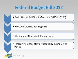 Pell Grant Eligibility Chart 2012 Advisor Training Federal And State Update Faith Phillips