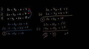how to solve simultaneous equations containing 3 unknowns easy guide