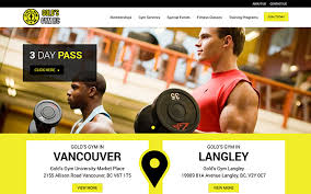 gym website design golds gym bc gym website design vancouver nirvana canada