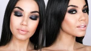 gray black smokey eye holiday smokey eye makeup tutorial eman