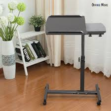 rolling laptop desk adjule angel height hospital table over bed stand