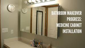 Bathroom Update Medicine Cabinet Installation