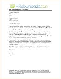 layoff letter regarding sample layoff letter